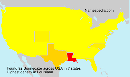Surname Bonnecaze in USA