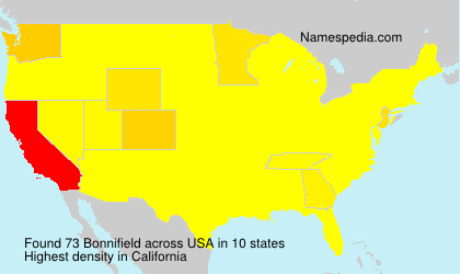Surname Bonnifield in USA