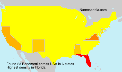 Surname Bonometti in USA