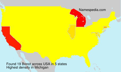 Surname Bonot in USA