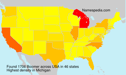 Surname Boomer in USA