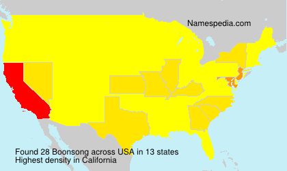 Surname Boonsong in USA
