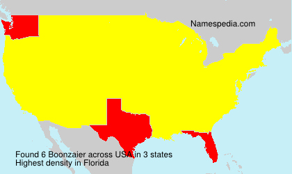 Surname Boonzaier in USA