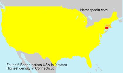 Surname Boorin in USA