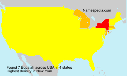 Surname Bopaiah in USA