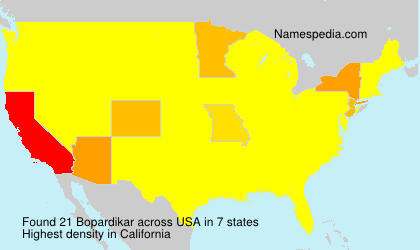 Surname Bopardikar in USA