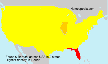 Surname Borachi in USA
