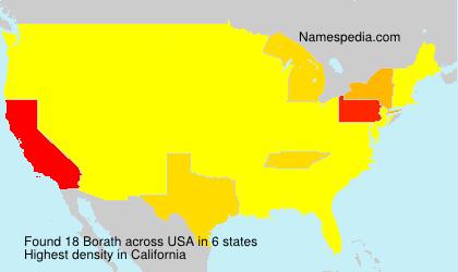 Surname Borath in USA