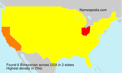 Surname Borazanian in USA