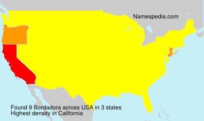 Familiennamen Bordadora - USA