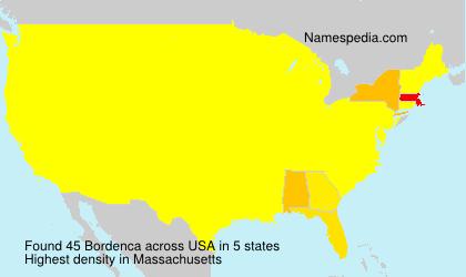 Surname Bordenca in USA