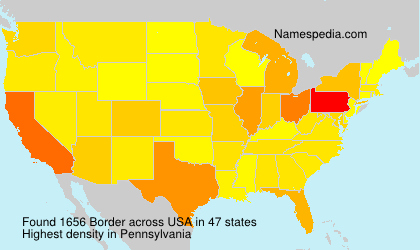 Surname Border in USA