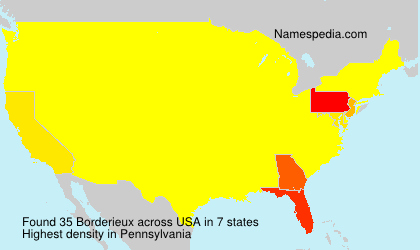 Surname Borderieux in USA
