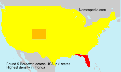 Surname Bordewin in USA