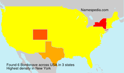 Surname Bordonave in USA