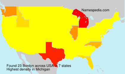 Surname Bordyn in USA