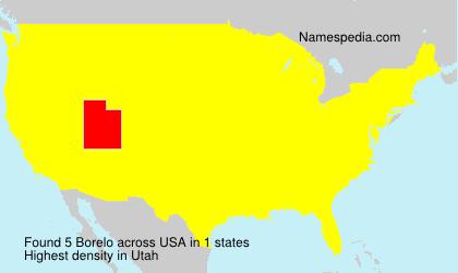 Familiennamen Borelo - USA