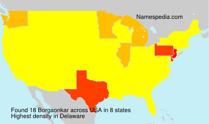 Surname Borgaonkar in USA