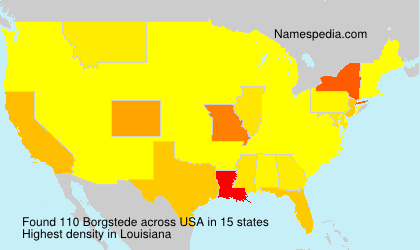 Surname Borgstede in USA