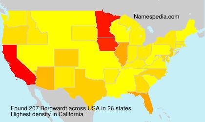 Surname Borgwardt in USA