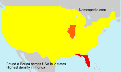 Surname Borlea in USA