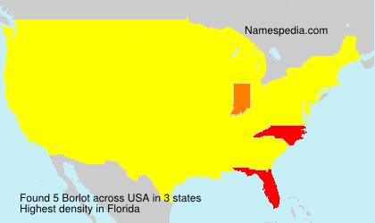 Surname Borlot in USA
