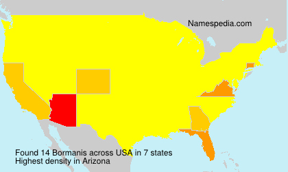 Surname Bormanis in USA