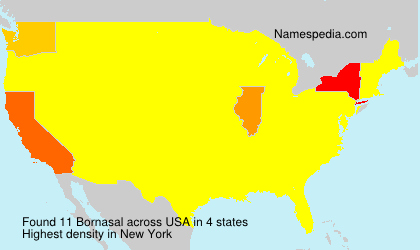 Surname Bornasal in USA