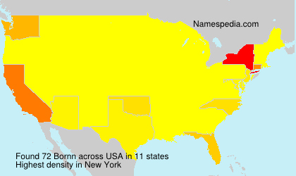 Surname Bornn in USA