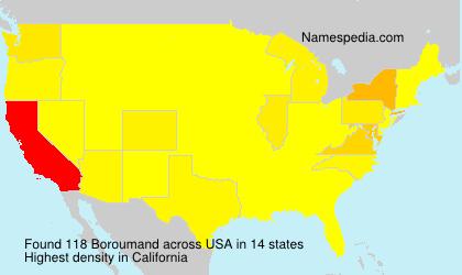 Surname Boroumand in USA