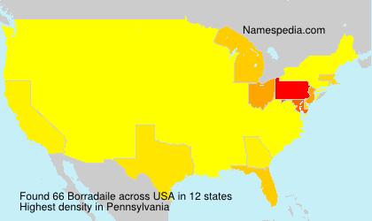Familiennamen Borradaile - USA