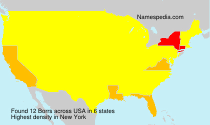 Surname Borrs in USA