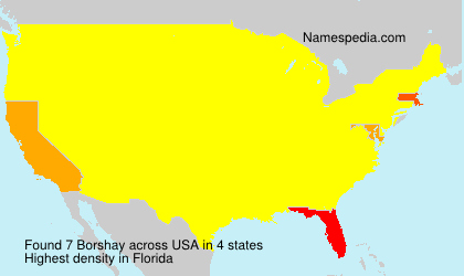 Surname Borshay in USA