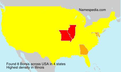 Surname Borsis in USA