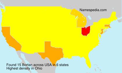 Surname Bortan in USA