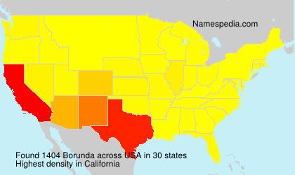 Familiennamen Borunda - USA