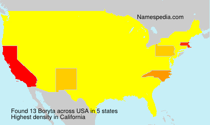 Surname Boryta in USA
