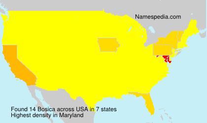 Familiennamen Bosica - USA