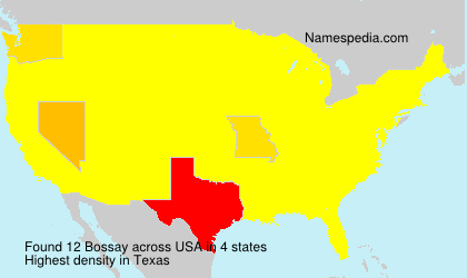 Surname Bossay in USA