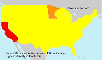Surname Bossenmaier in USA