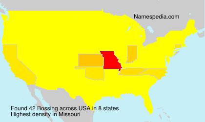 Surname Bossing in USA