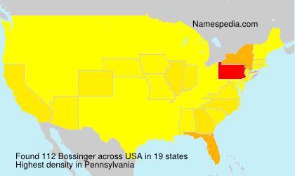 Surname Bossinger in USA