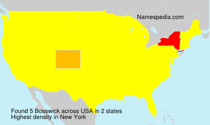 Surname Bosswick in USA