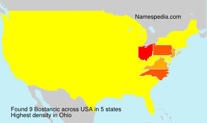 Surname Bostancic in USA