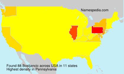 Familiennamen Bostjancic - USA