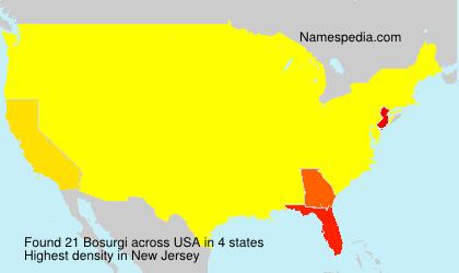 Familiennamen Bosurgi - USA