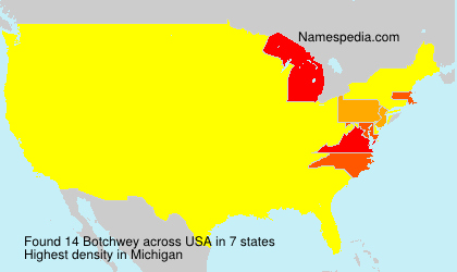 Surname Botchwey in USA