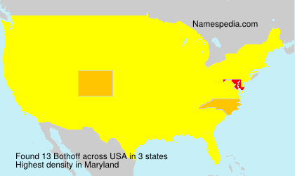 Surname Bothoff in USA