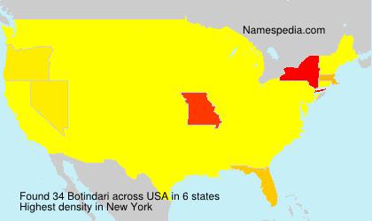 Surname Botindari in USA