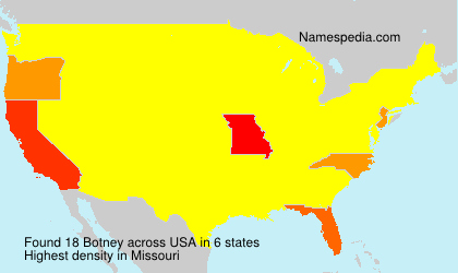 Surname Botney in USA